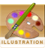 Navigation icon for the Illustration sub-category
